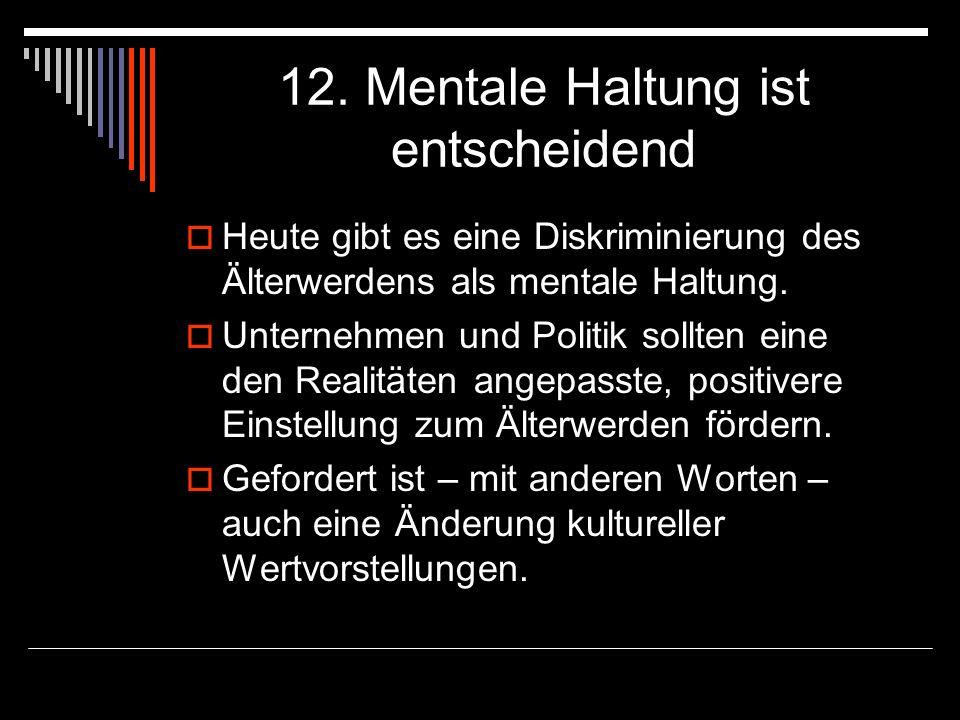 12. Mentale Haltung ist entscheidend
