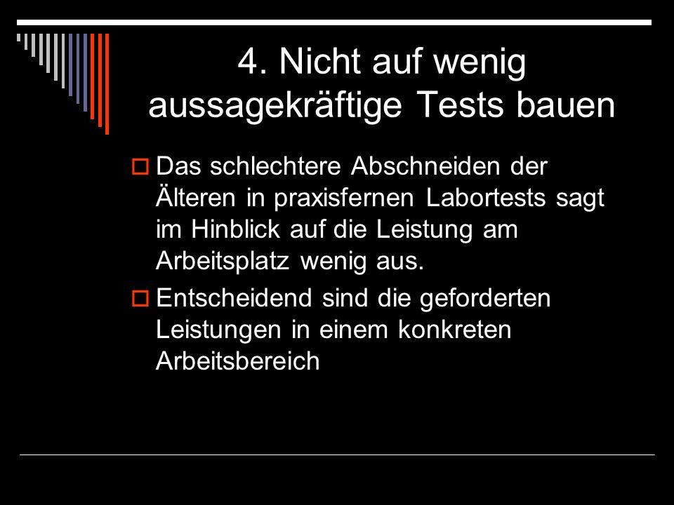 4. Nicht auf wenig aussagekräftige Tests bauen