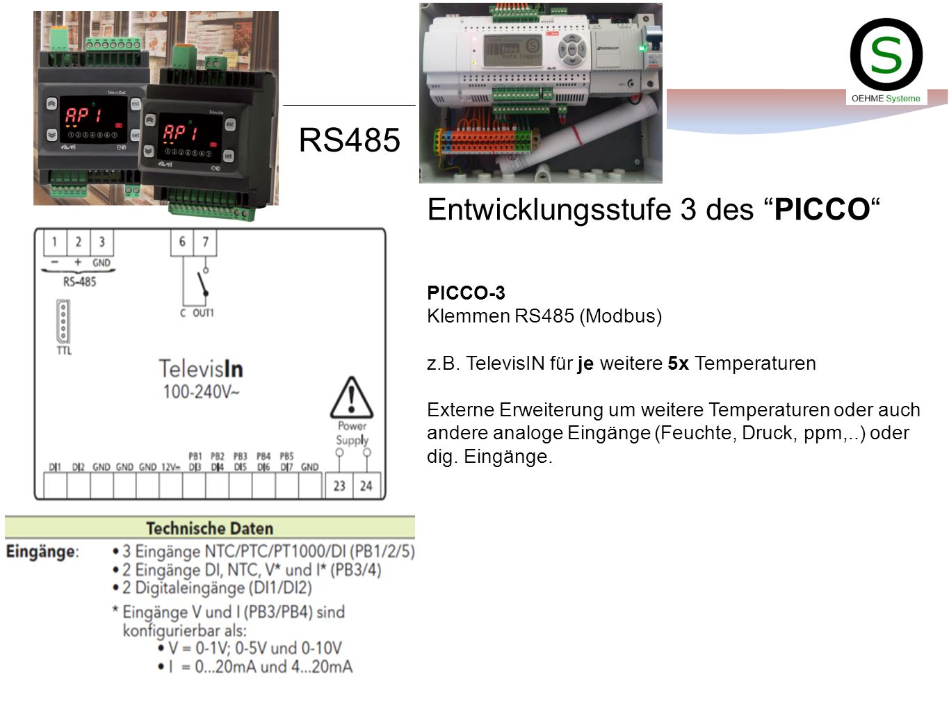 RS485 Entwicklungsstufe 3 des PICCO