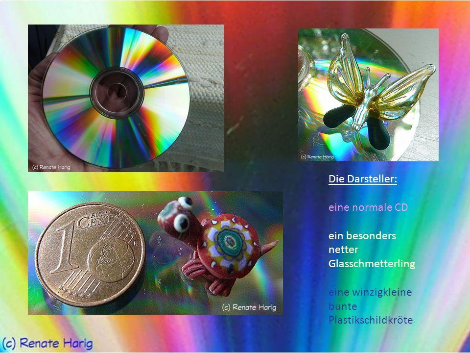 Die Darsteller: eine normale CD. ein besonders netter.