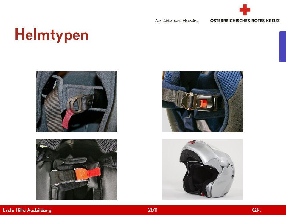 Helmtypen Erste Hilfe Ausbildung 2011 G.R.
