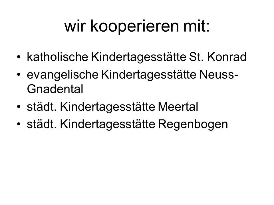 wir kooperieren mit: katholische Kindertagesstätte St. Konrad