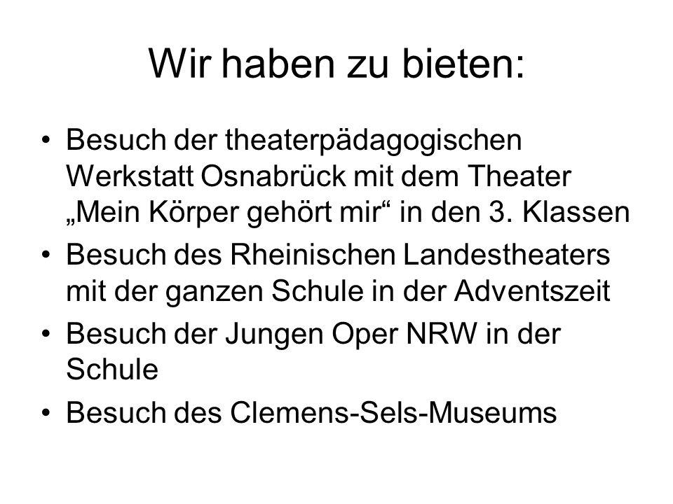 """Wir haben zu bieten: Besuch der theaterpädagogischen Werkstatt Osnabrück mit dem Theater """"Mein Körper gehört mir in den 3. Klassen."""