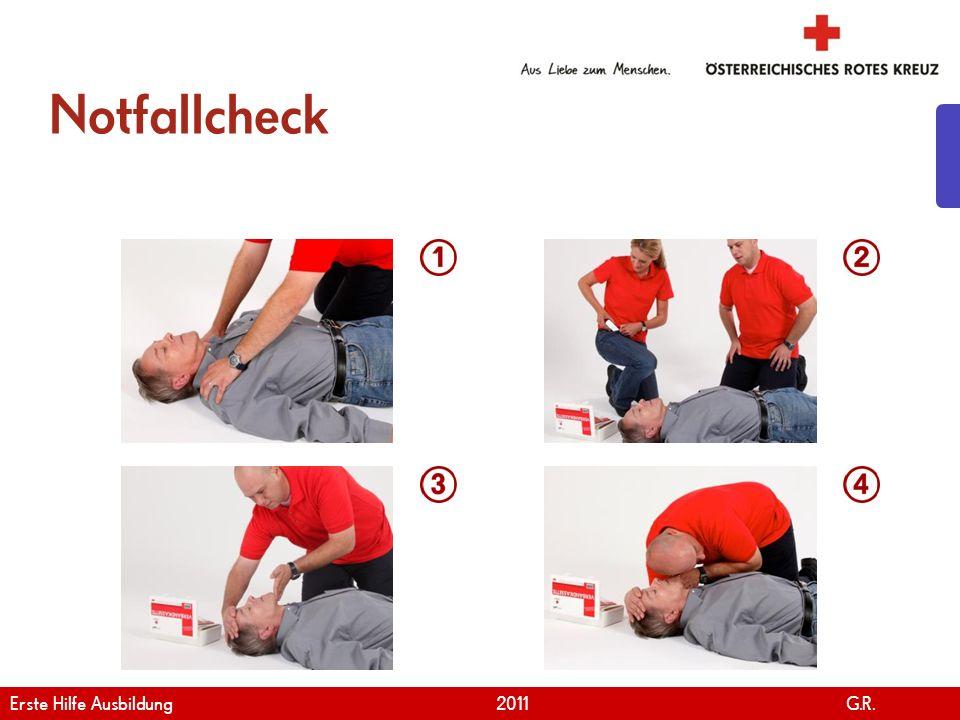 Notfallcheck Erste Hilfe Ausbildung 2011 G.R.
