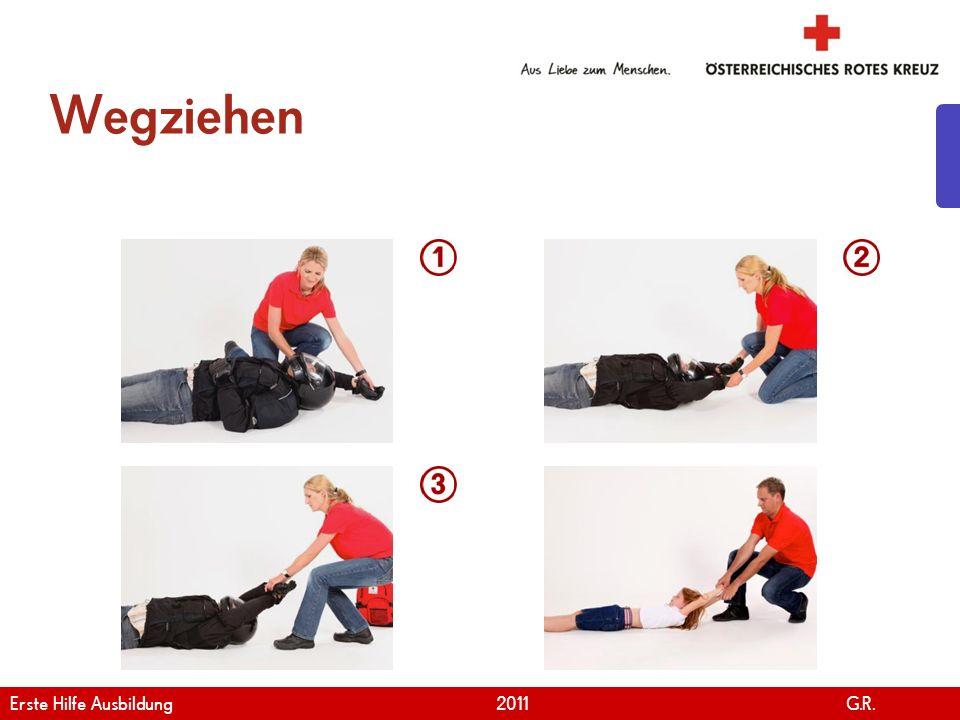 Wegziehen Erste Hilfe Ausbildung 2011 G.R.