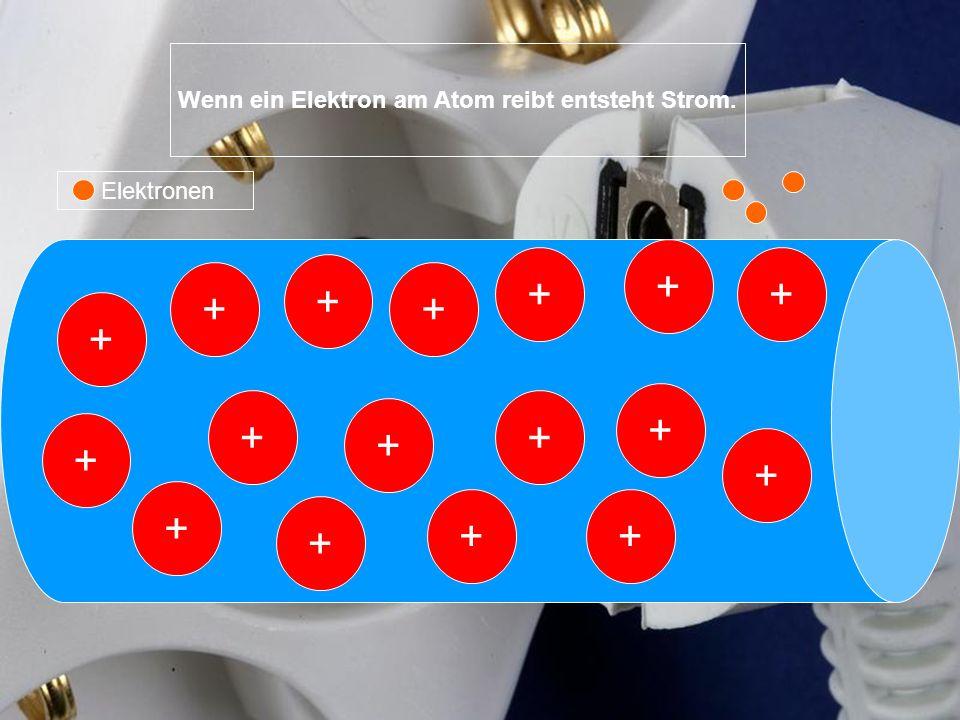 Wenn ein Elektron am Atom reibt entsteht Strom.