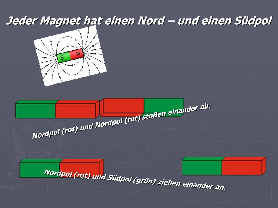 Jeder Magnet hat einen Nord – und einen Südpol