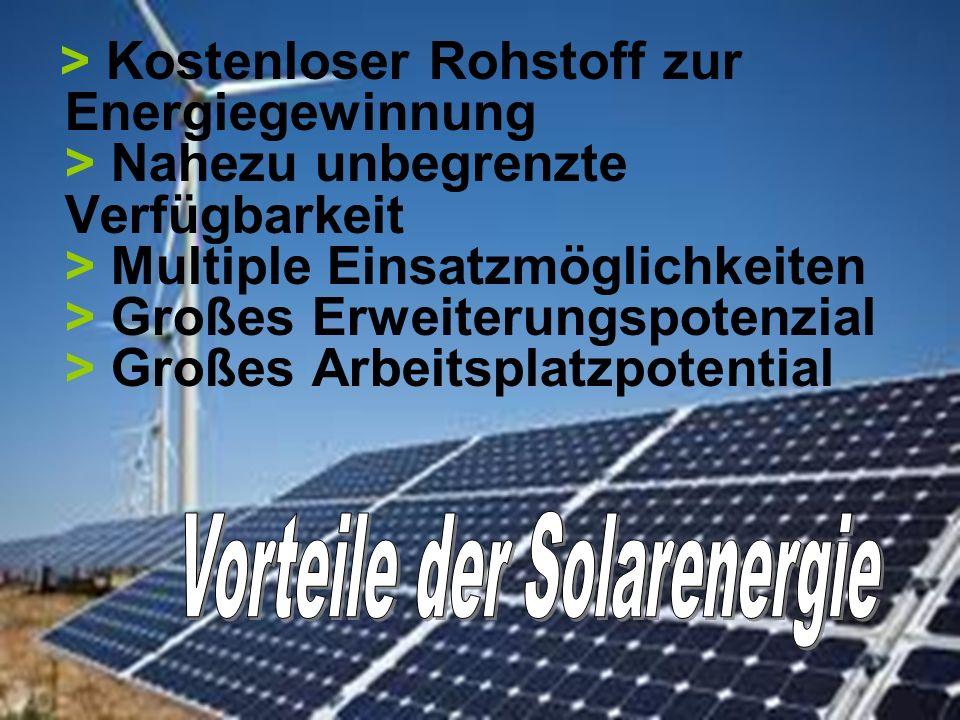 Vorteile der Solarenergie