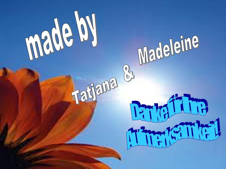 made by Madeleine & Tatjana Danke für Ihre Aufmerksamkeit!