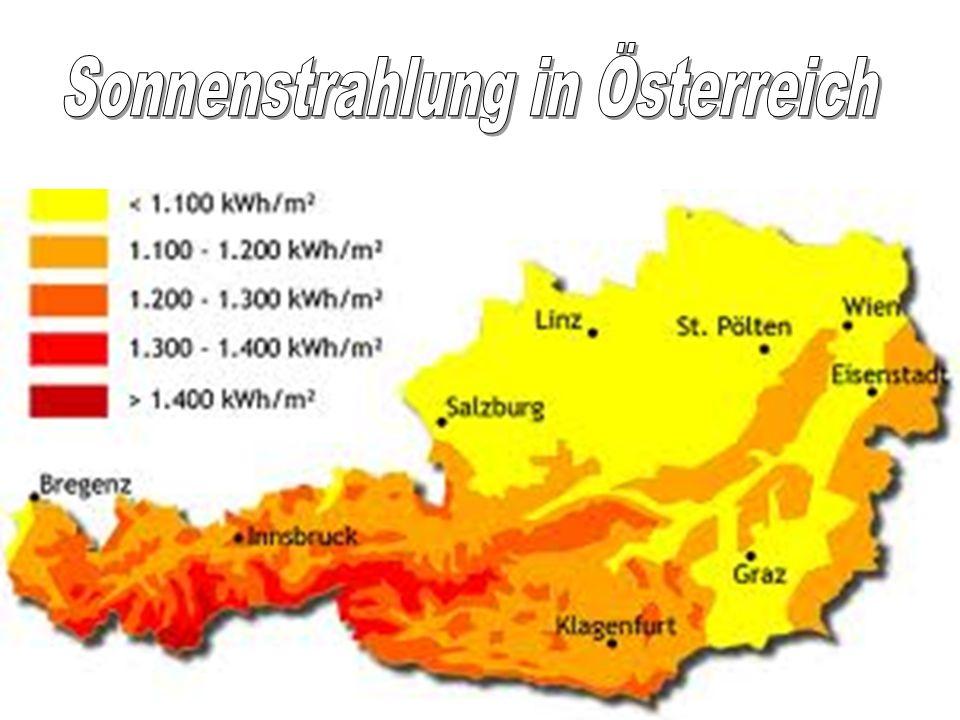 Sonnenstrahlung in Österreich