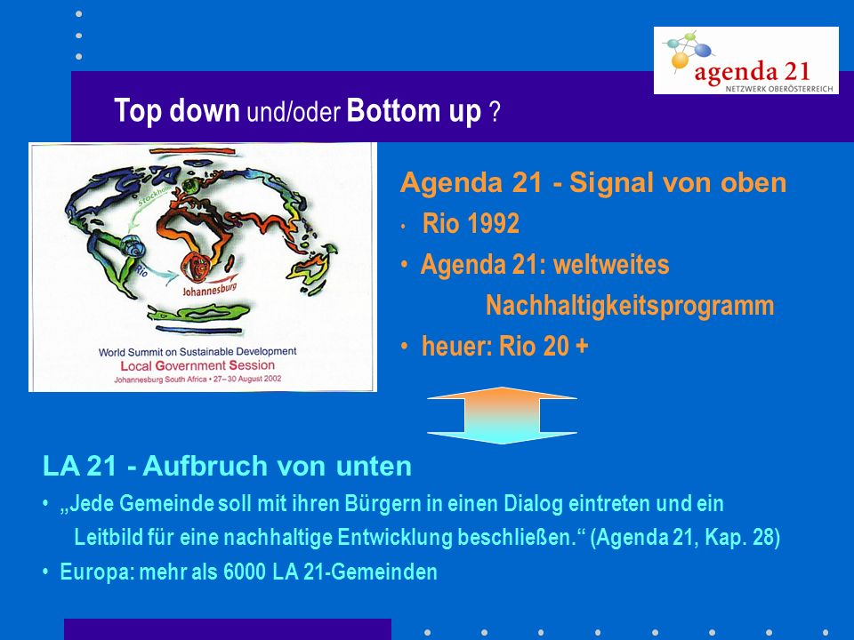 Top down und/oder Bottom up