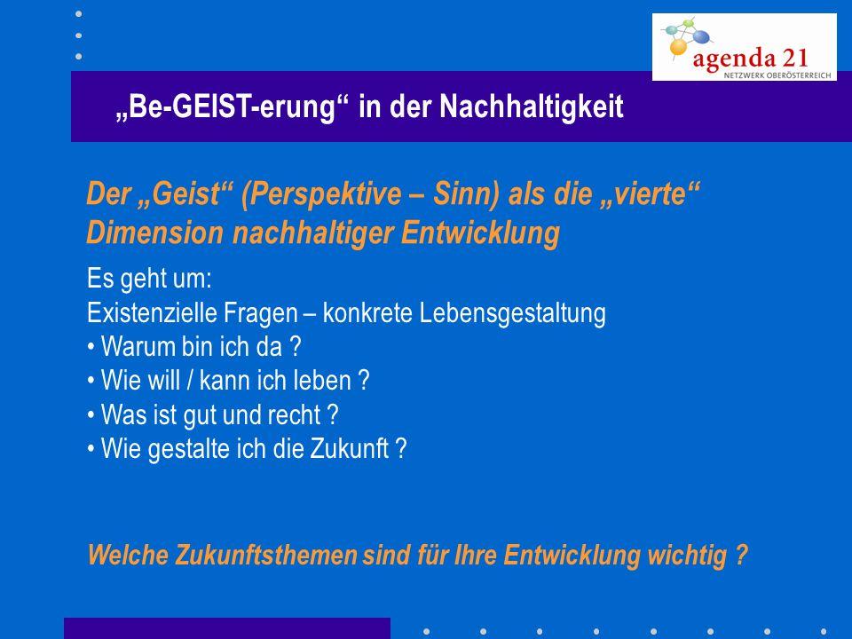 """""""Be-GEIST-erung in der Nachhaltigkeit"""