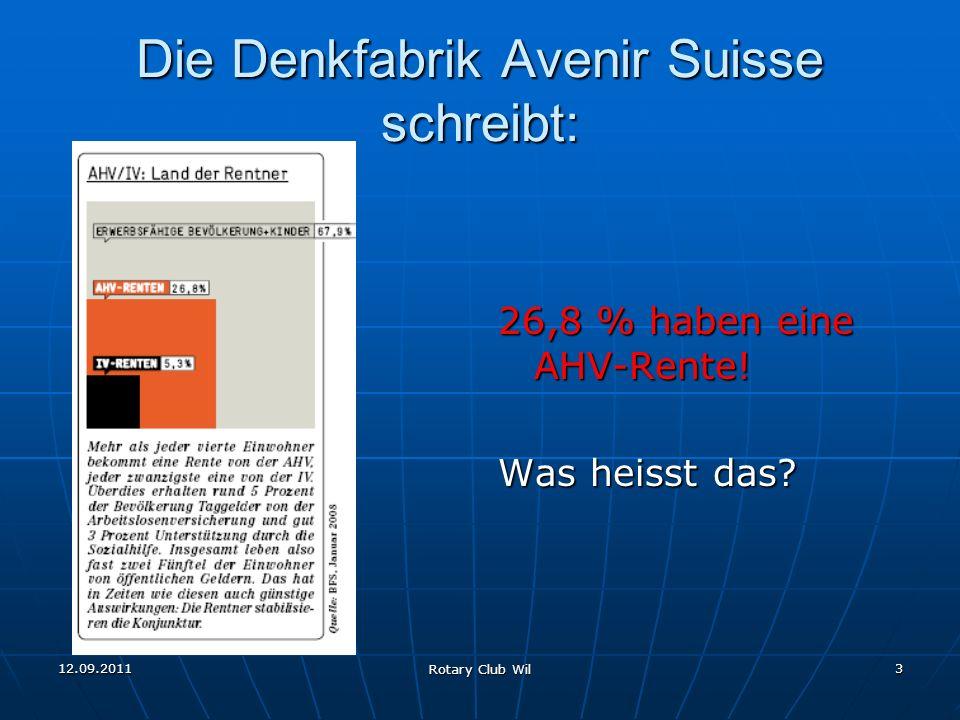Die Denkfabrik Avenir Suisse schreibt: