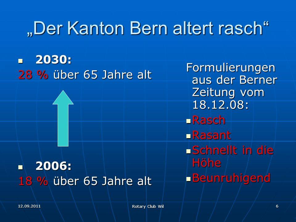 """""""Der Kanton Bern altert rasch"""