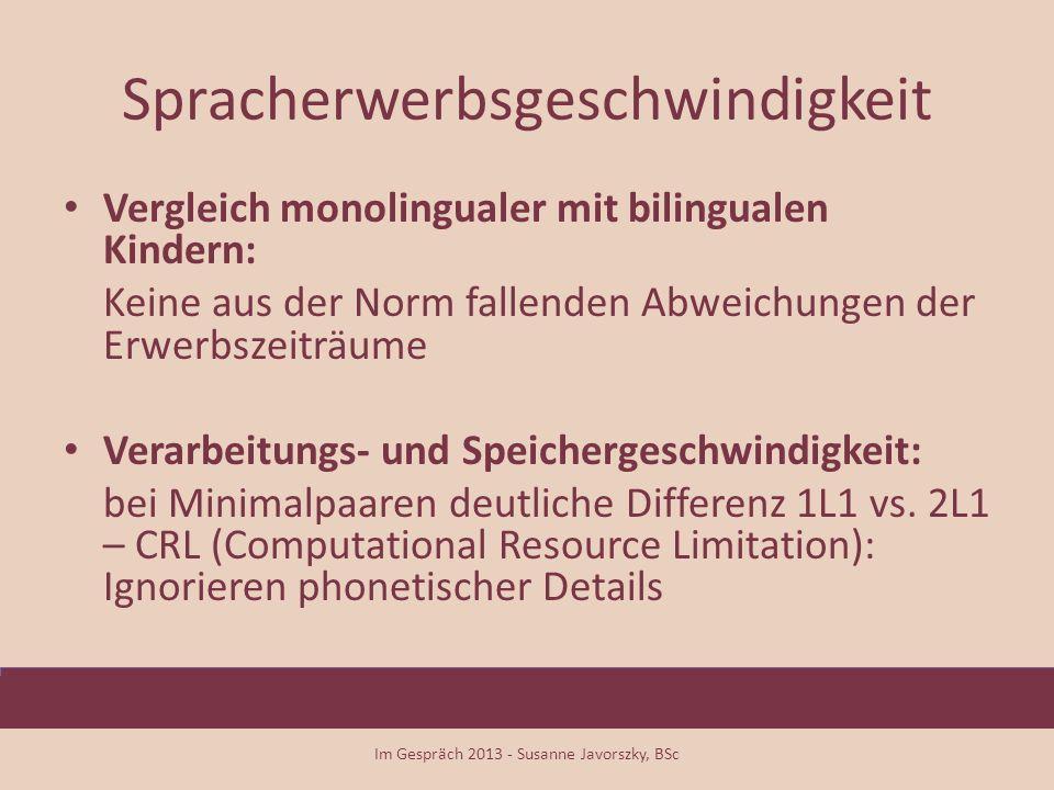Spracherwerbsgeschwindigkeit