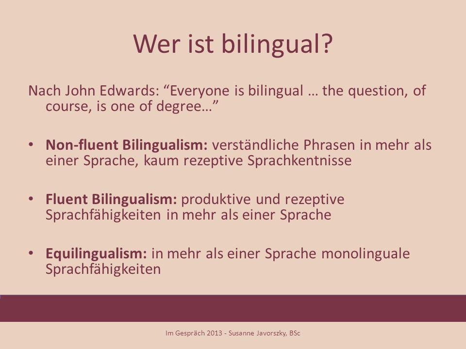 Zwei Sprachen sprechen lernen