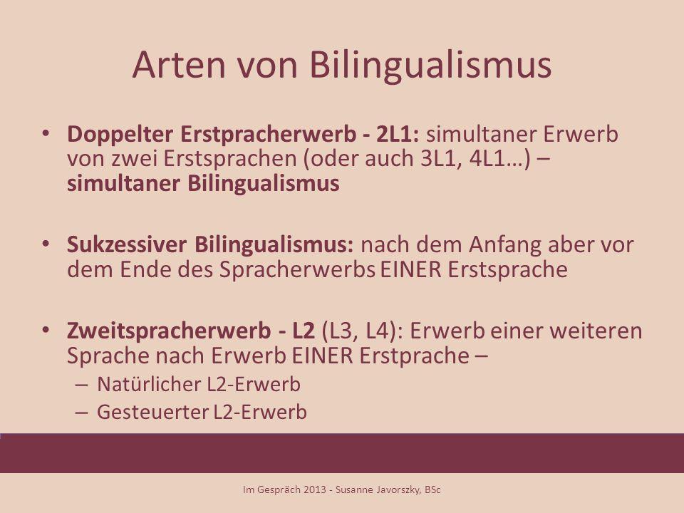 Arten von Bilingualismus