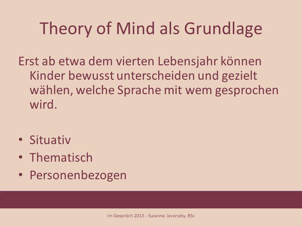 Theory of Mind als Grundlage