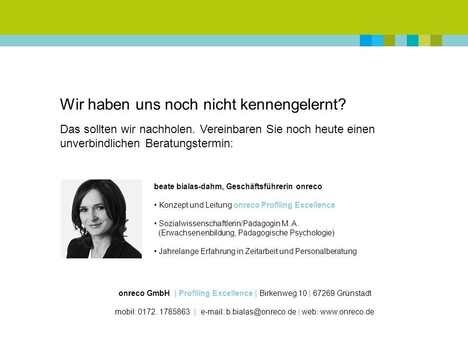 onreco GmbH | Profiling Excellence | Birkenweg 10 | 67269 Grünstadt