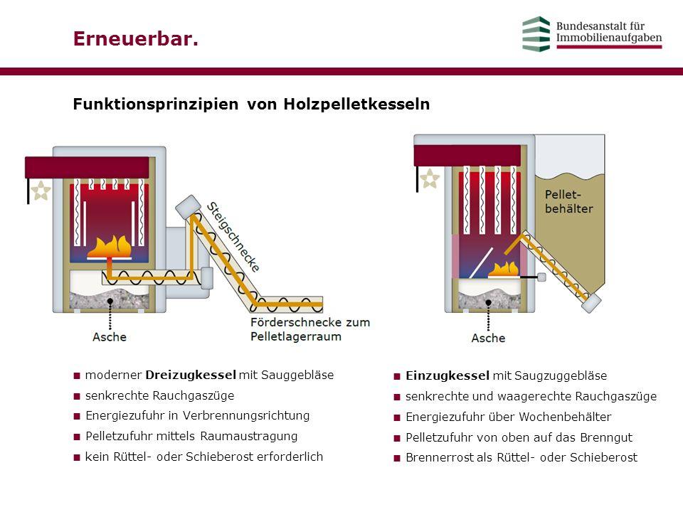 Erneuerbar. Funktionsprinzipien von Holzpelletkesseln