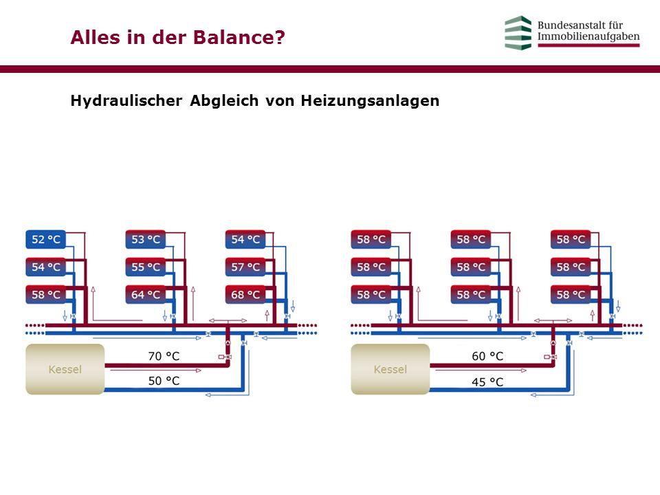 Alles in der Balance Hydraulischer Abgleich von Heizungsanlagen