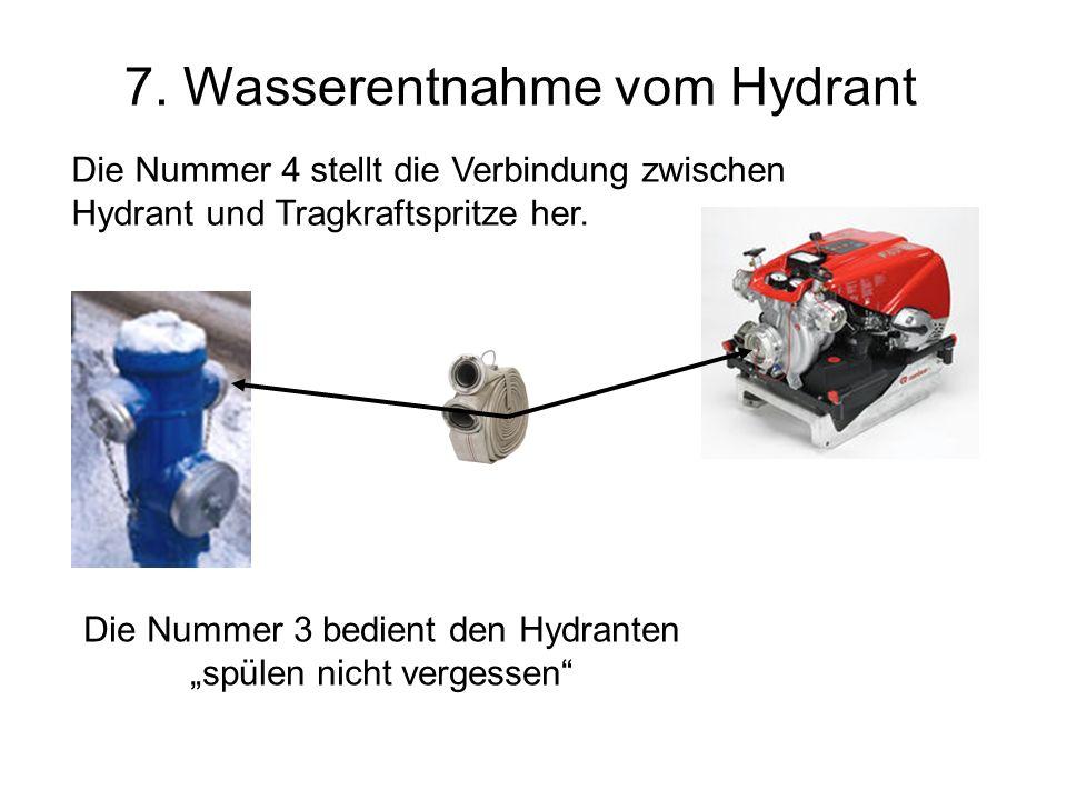 7. Wasserentnahme vom Hydrant