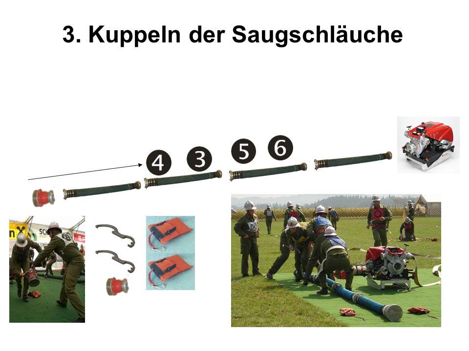 3. Kuppeln der Saugschläuche