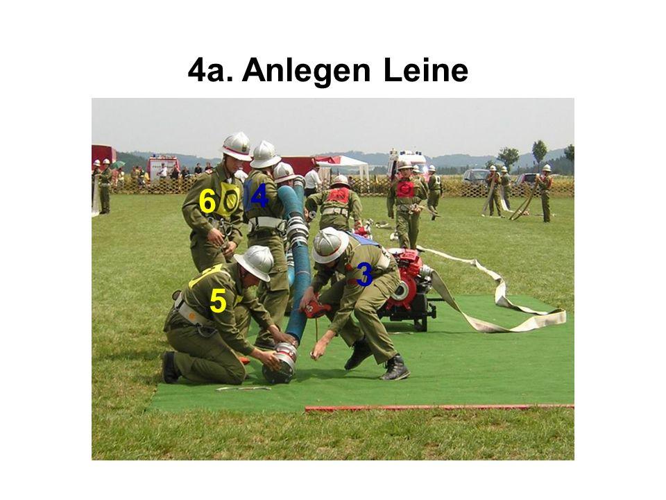 4a. Anlegen Leine 4 6 3 5