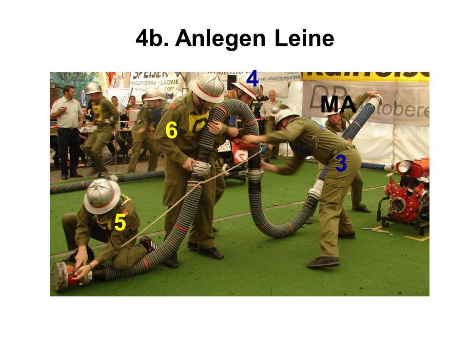4b. Anlegen Leine 4 MA 6 3 5