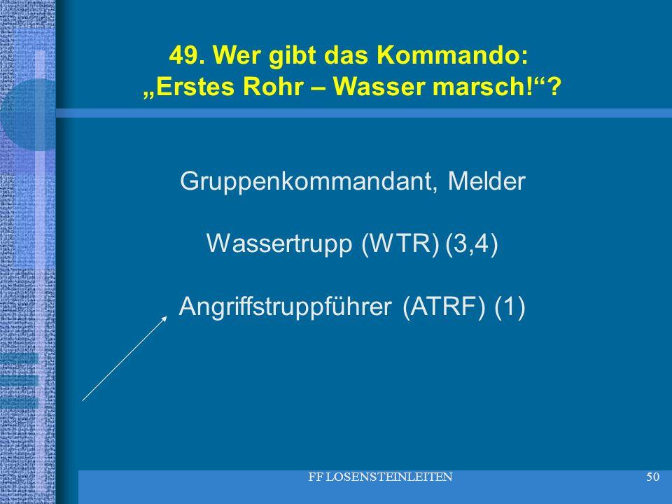 """""""Erstes Rohr – Wasser marsch!"""