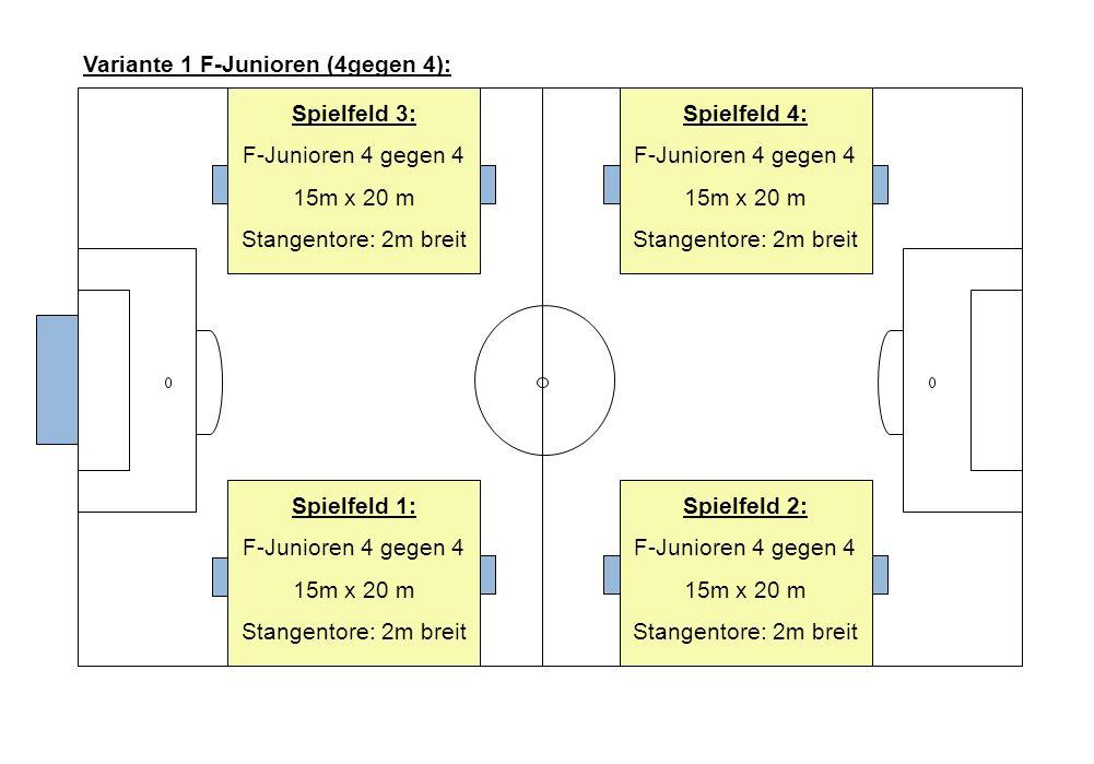 Variante 1 F-Junioren (4gegen 4):