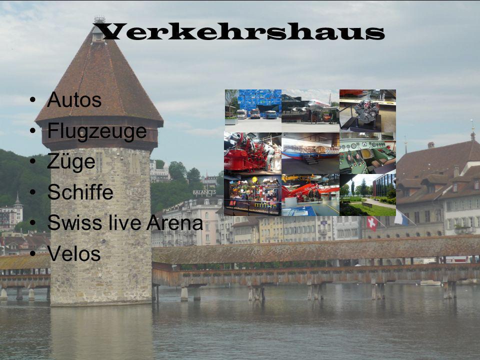 Verkehrshaus Autos Flugzeuge Züge Schiffe Swiss live Arena Velos