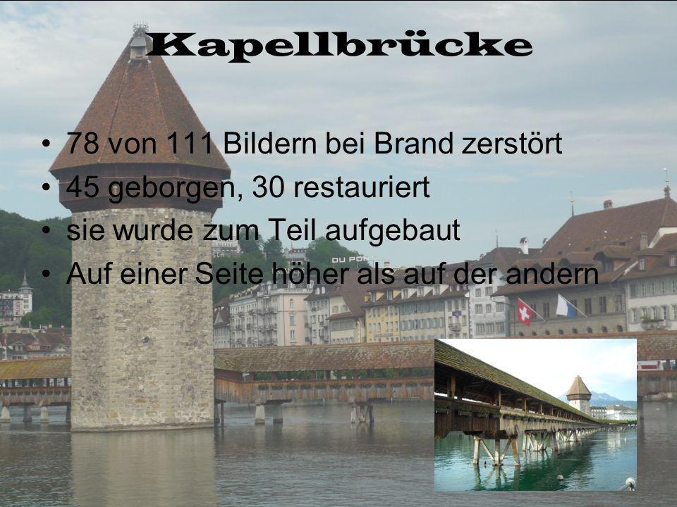 Kapellbrücke 78 von 111 Bildern bei Brand zerstört