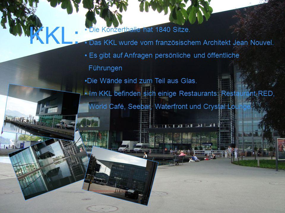 KKL: Die Konzerthalle hat 1840 Sitze.