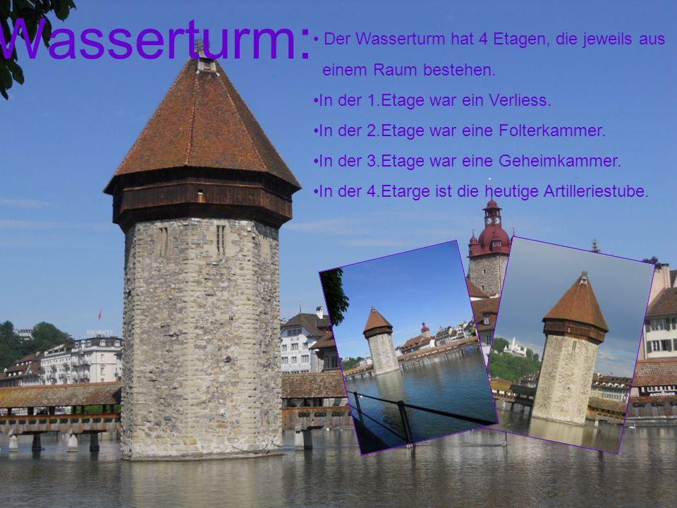 Wasserturm: Der Wasserturm hat 4 Etagen, die jeweils aus