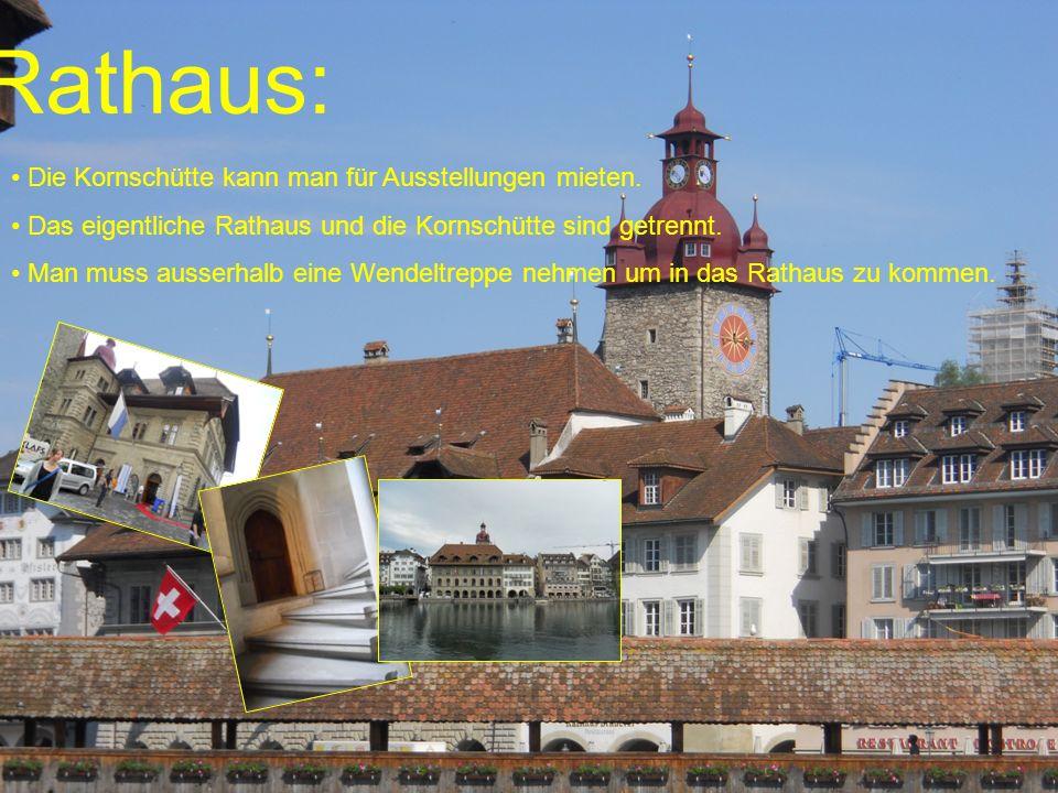 Rathaus: Die Kornschütte kann man für Ausstellungen mieten.