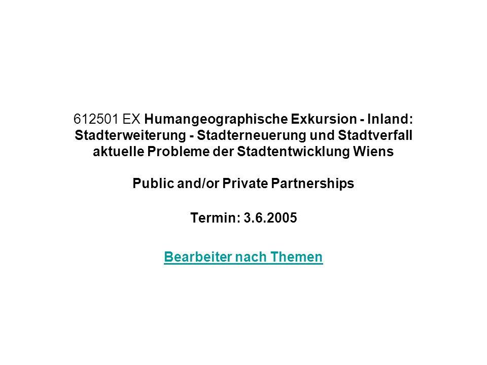Termin: 3.6.2005 Bearbeiter nach Themen