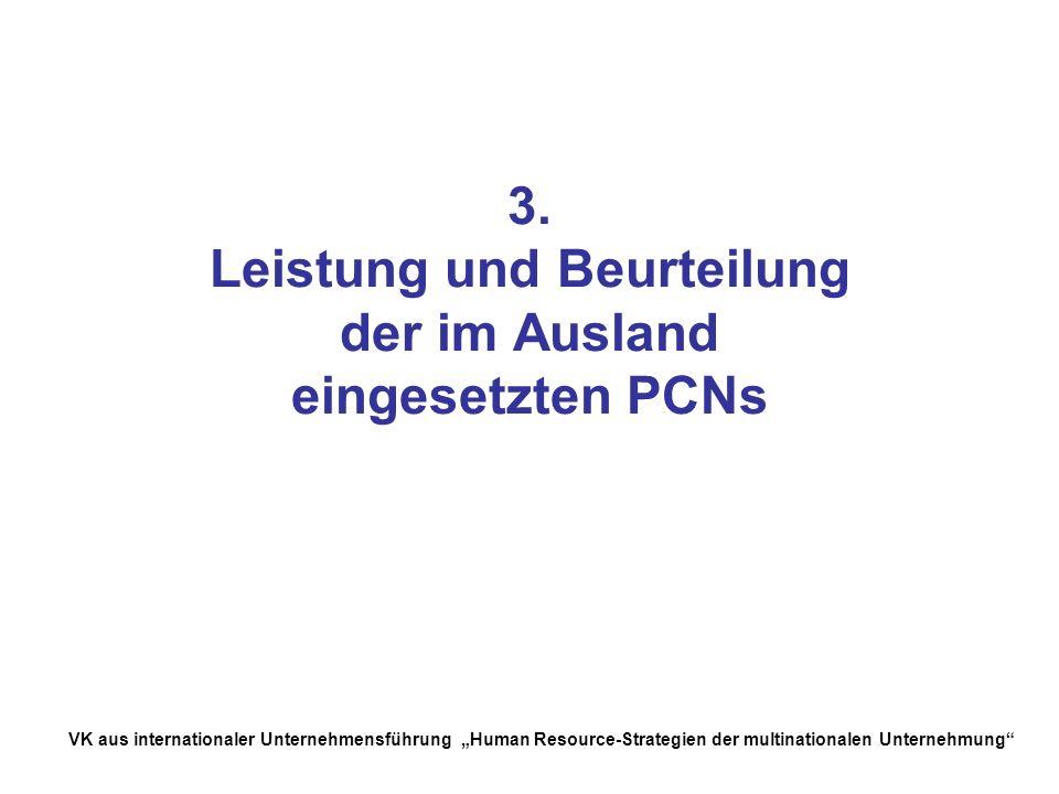 3. Leistung und Beurteilung der im Ausland eingesetzten PCNs