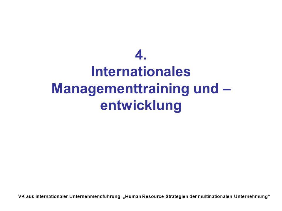 4. Internationales Managementtraining und –entwicklung