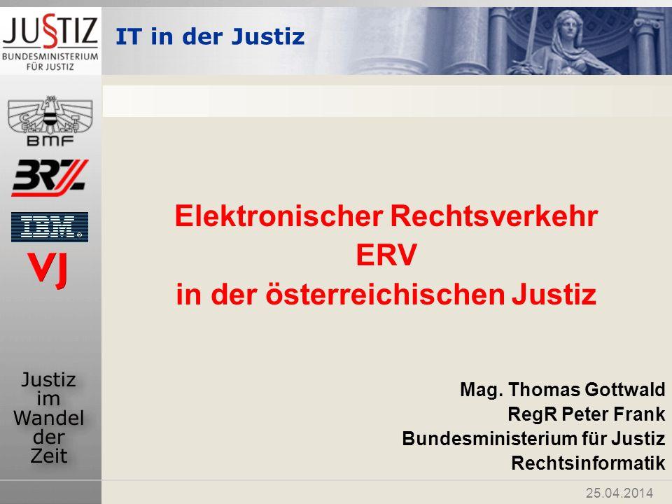 Elektronischer Rechtsverkehr in der österreichischen Justiz