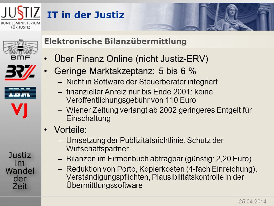 Elektronische Bilanzübermittlung