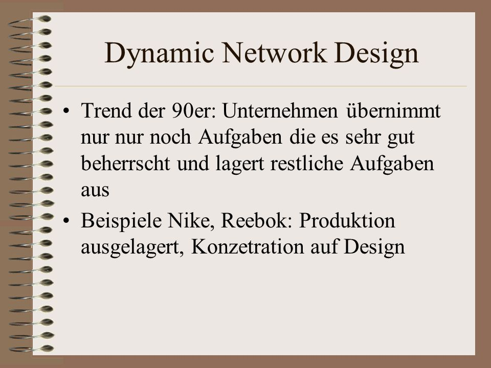 Dynamic Network Design