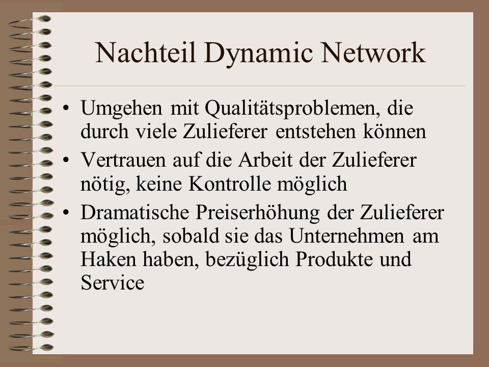 Nachteil Dynamic Network