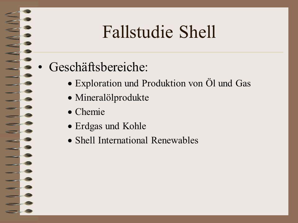 Fallstudie Shell Geschäftsbereiche: