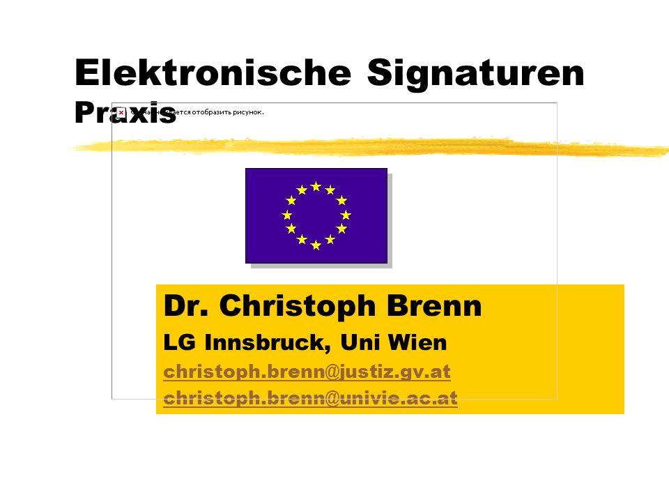 Elektronische Signaturen Praxis