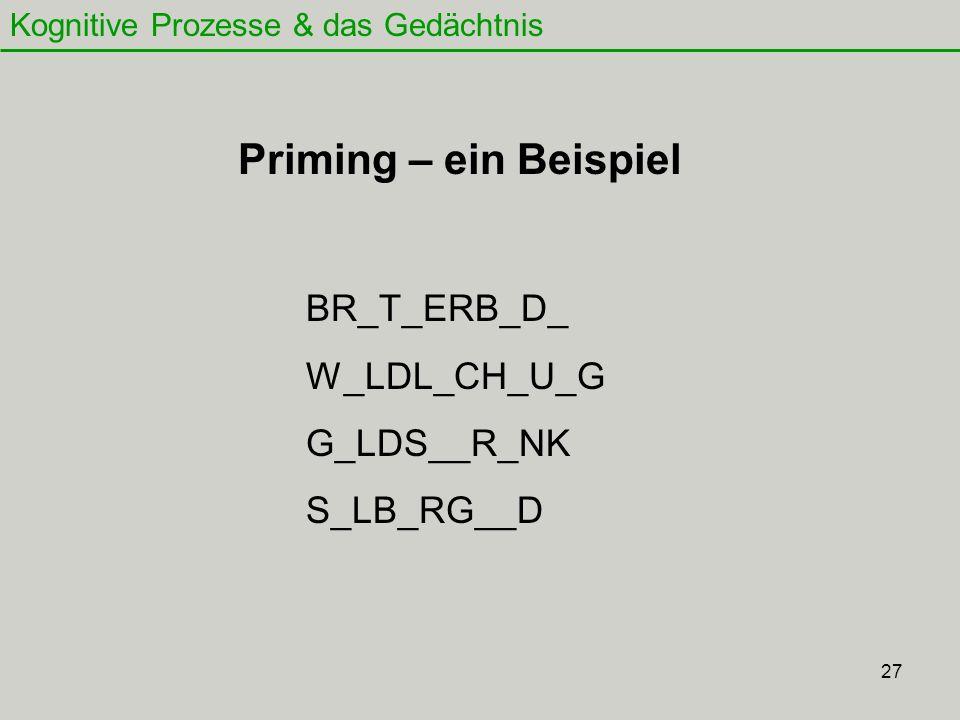 Priming – ein Beispiel BR_T_ERB_D_ W_LDL_CH_U_G G_LDS__R_NK S_LB_RG__D