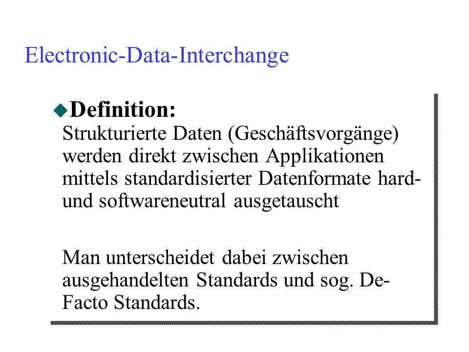Electronic-Data-Interchange