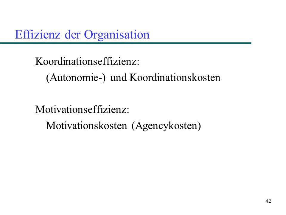 Effizienz der Organisation