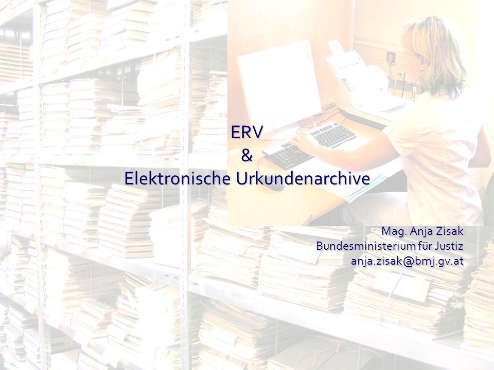 ERV & Elektronische Urkundenarchive