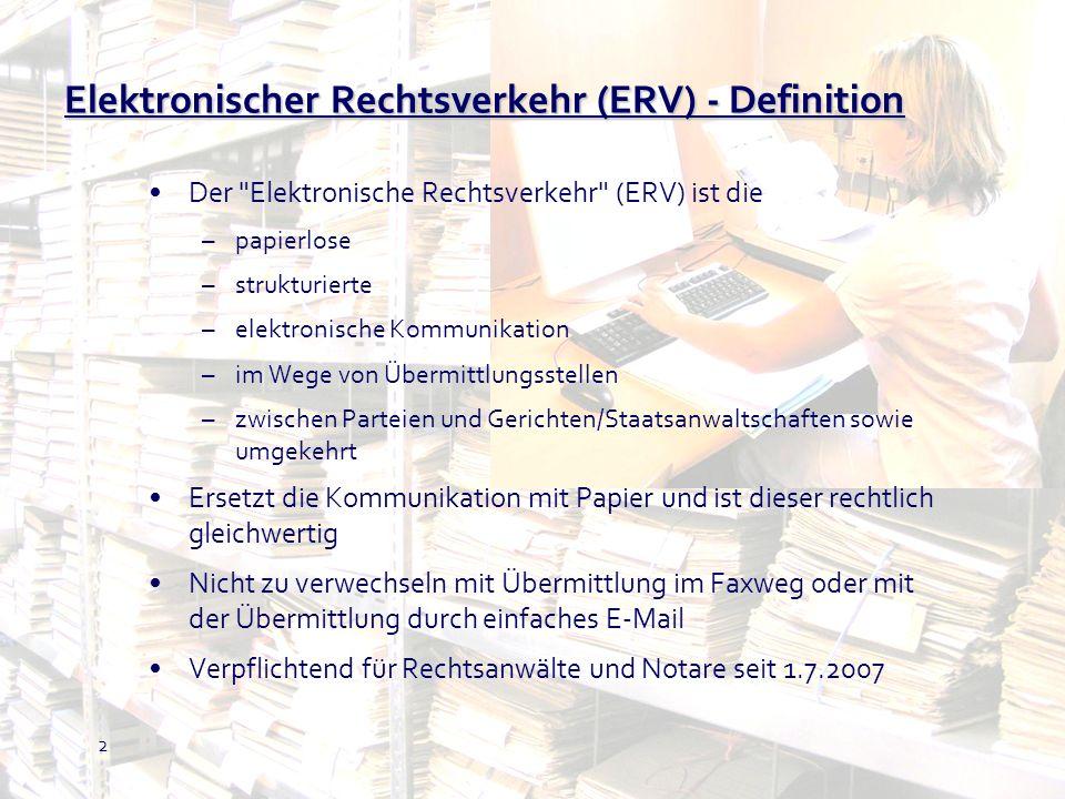 Elektronischer Rechtsverkehr (ERV) - Definition
